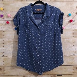 Jachs Girlfriend chambray button front blouse